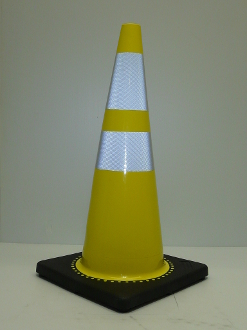 "28"" Reflective Cone w/ Black Base"