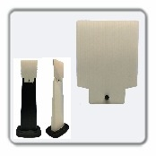 SD2K Add-On White Corrugated sign panel with Black plastic bolt and nut