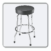 Stool Swivel Bar Stool/Shop Seat, Black
