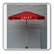 Aluminum frame umbrella and VALET LETTERING (3 Panels)